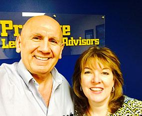 With Client Celine Pastore, radio personality